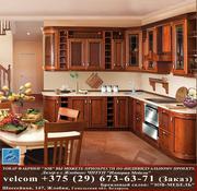 Кухня фасад из массива Черешня 10 тип 12