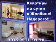 Квартиры в Жлобине с домашним уютом.Командированным.